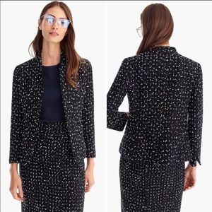 J. Crew 365 Tweed Going Out Blazer in Deepest Navy